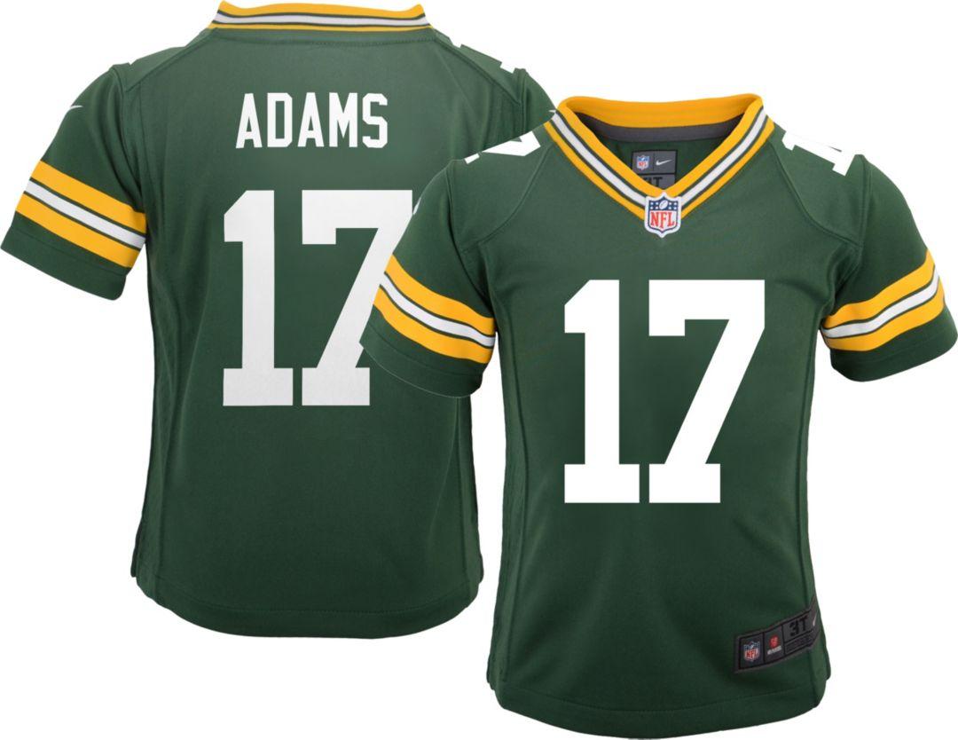 cheap for discount 01898 427a8 Nike Boys' Home Game Jersey Green Bay Packers Davante Adams #17