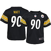 Nike Boys' Pittsburgh Steelers T.J. Watt #90 Black Game Jersey