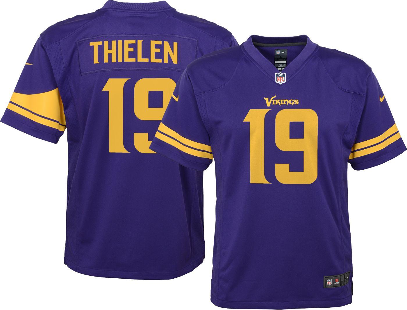 Nike Boys' Color Rush Game Jersey Minnesota Vikings Adam Thielen #19