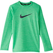 Nike Boys' Heather Hydro Long Sleeve Rash Guard