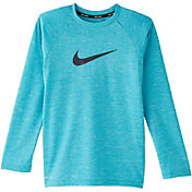 Nike Boys' Heather Hydro Long Sleeve Rash Guard