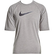 Nike Boys' Heather Hydro Half Sleeve Rash Guard
