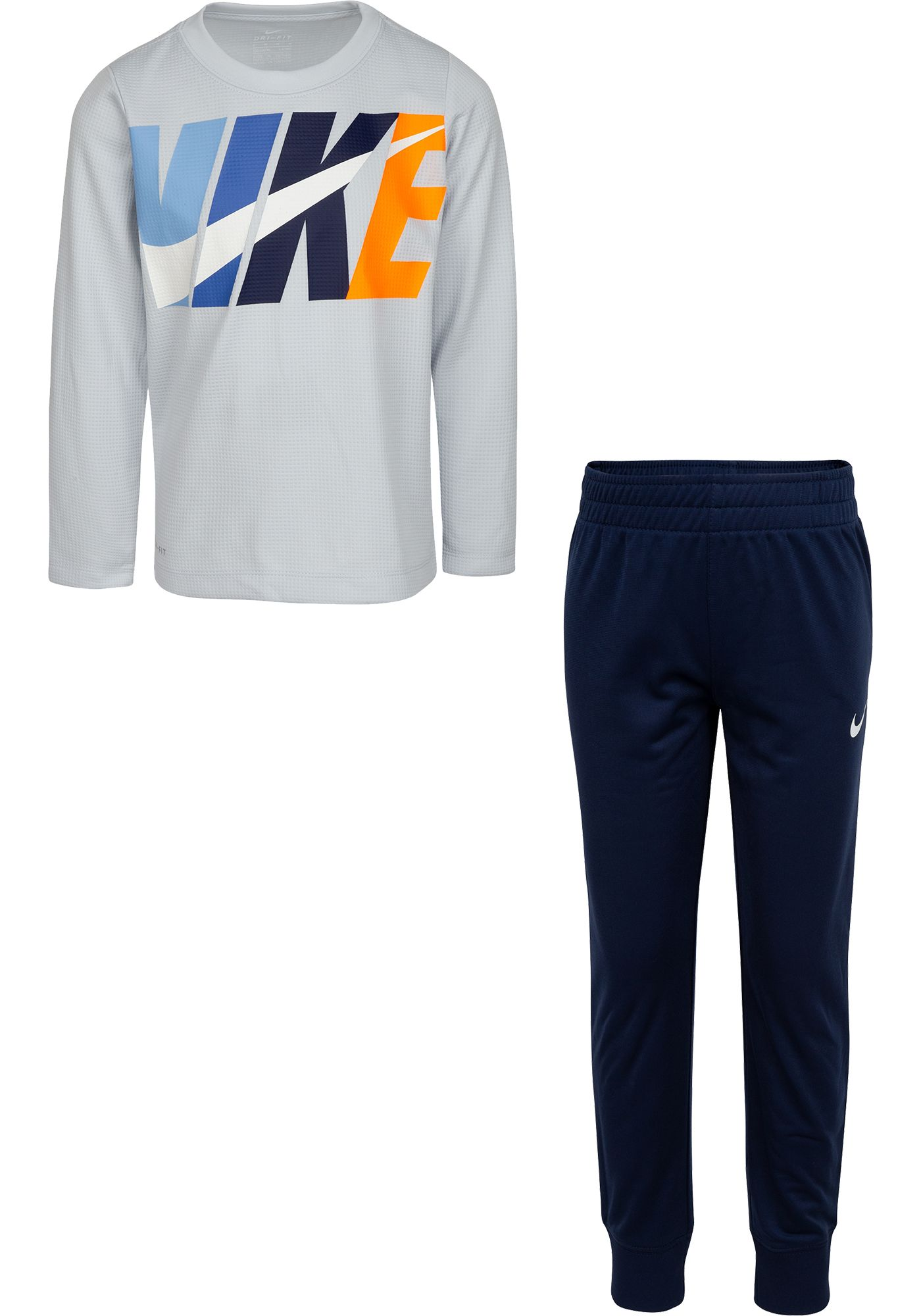 Nike Little Boys' Dri-FIT Thermal Long Sleeve Shirt and Jogger Set