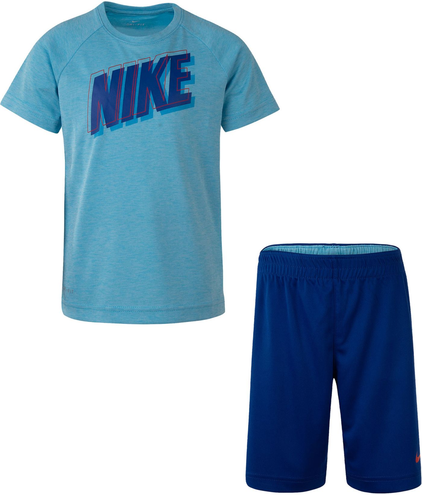 Nike Little Boys' Dri-FIT Raglan T-Shirt and Shorts Set