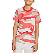 Nike Boys' Sportswear All Over Print Camo T-Shirt