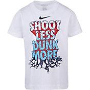 Nike Little Boys' Shoot Less Dunk More Graphic Basketball T-Shirt
