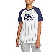 Nike Boys' Sportswear Pinstripe Baseball T-Shirt