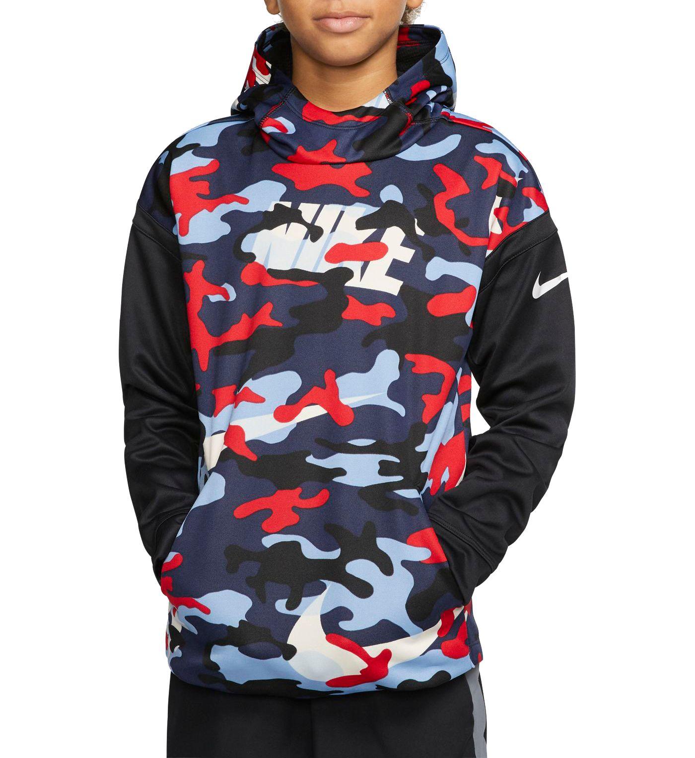 Nike Boys' Therma Camo Printed Hoodie