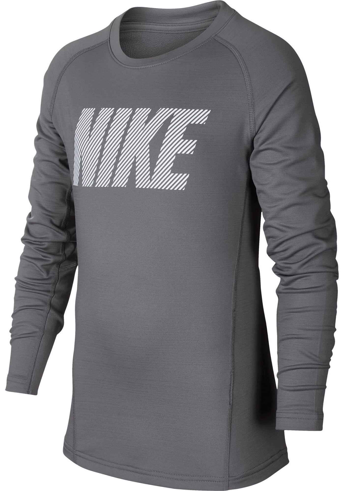 Nike Pro Boy's Therma Long Sleeve Shirt