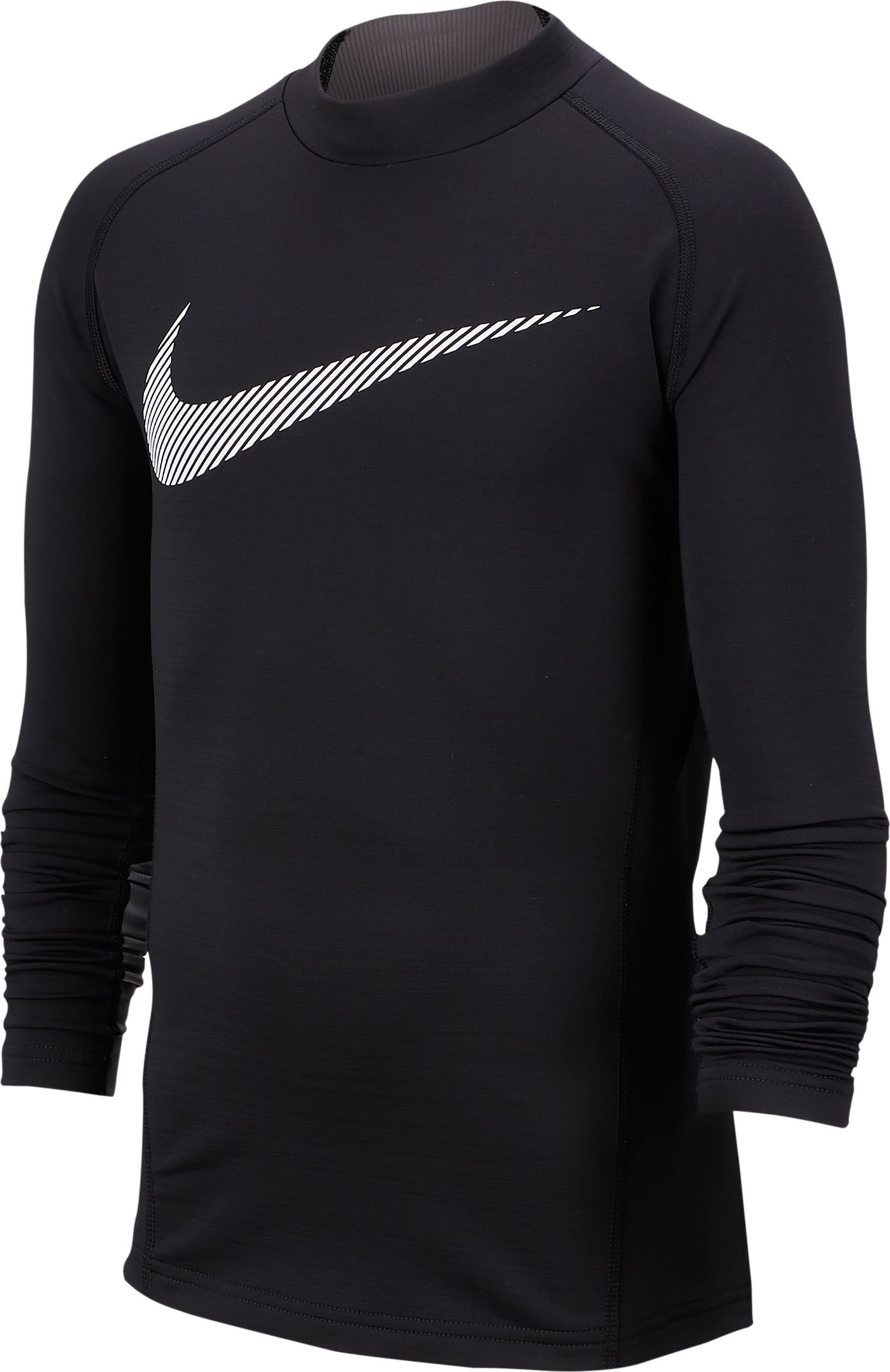 Nike Boys' Pro Warm Mock Neck Long Sleeve Shirt