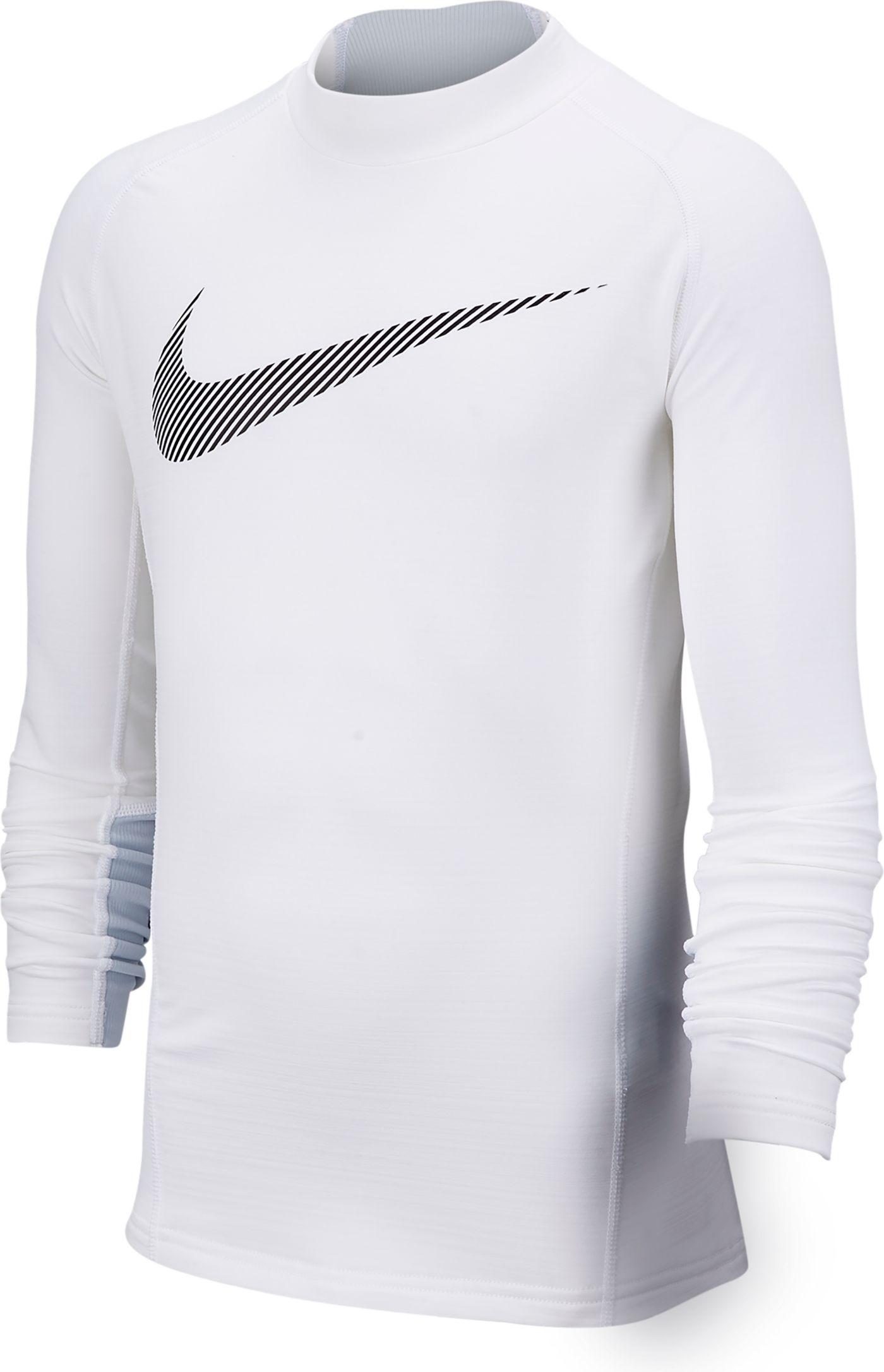 Nike Boys' Pro Warm Mock Neck Long Sleeve Shirt