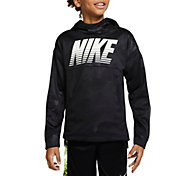 Nike Boys' Therma Embossed Hoodie in Black