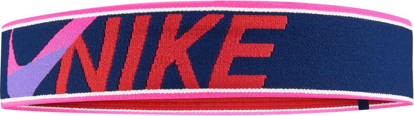 Nike Girls' Elastic Cross Stitch Headband