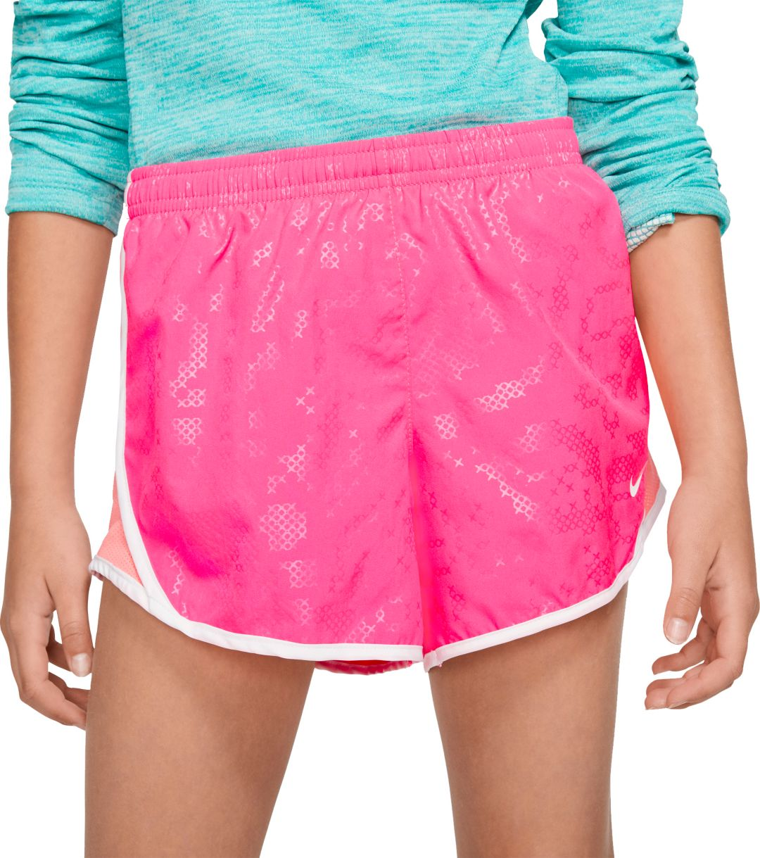 famous brand best cheap retail prices Nike Girls' Dri-FIT Femme Printed Tempo Shorts