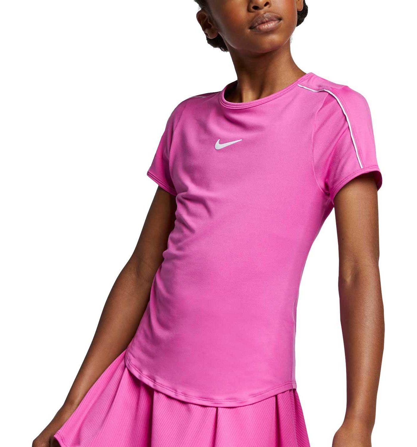 Nike Girls' NikeCourt Dri-FIT Tennis Shirt