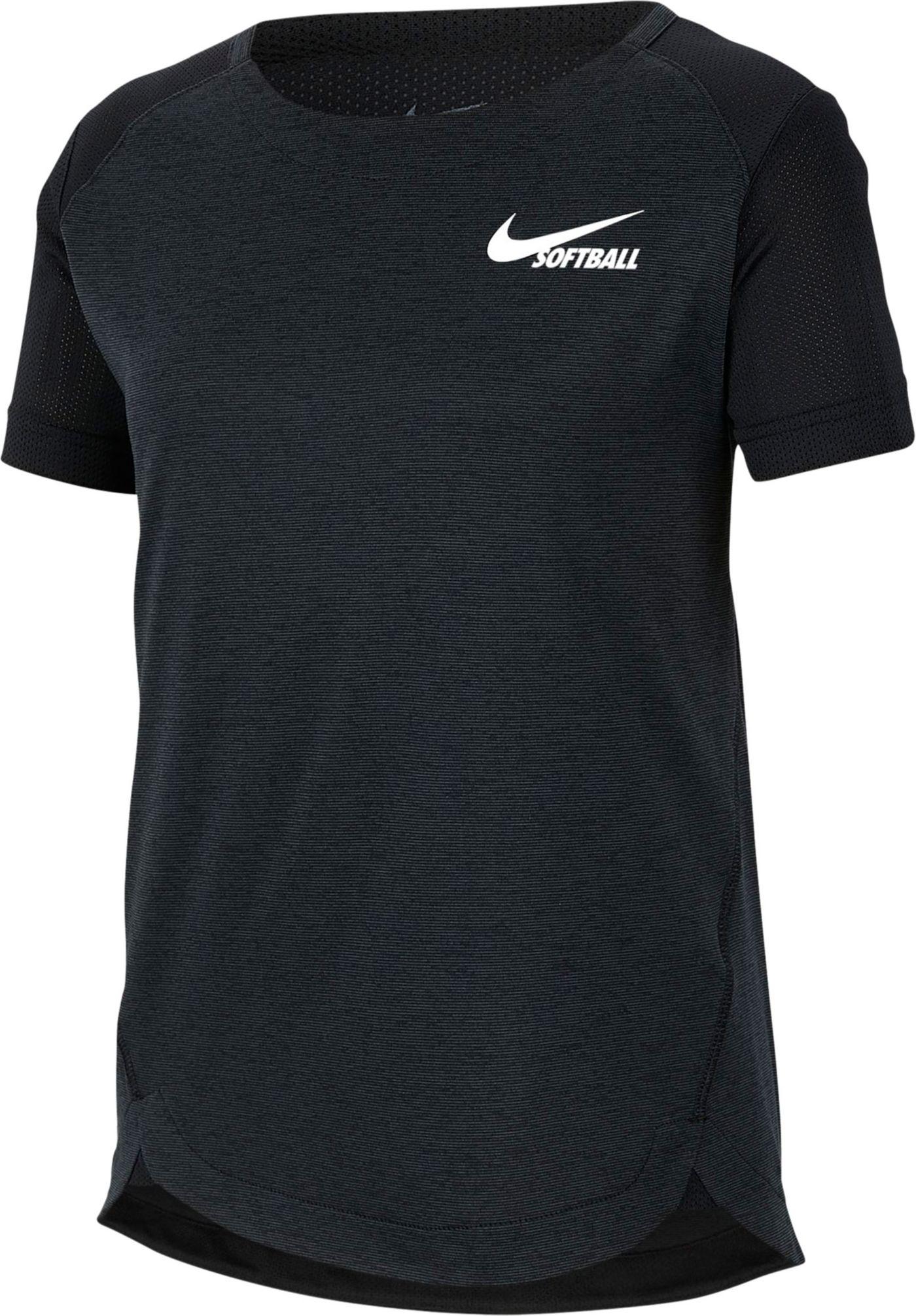 Nike Girls' Dri-FIT Short-Sleeve Softball Top