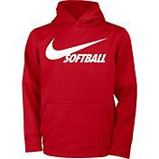 Nike Girls' Therma Pullover Softball Hoodie