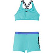 Nike Girls' JDI Crossback Sport Two Piece Swimsuit