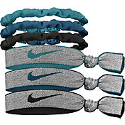 Nike Novelty Elastic Hair Ties and Pouch – 6 Pack
