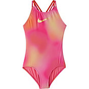 Nike Girls' Spectrum Spiderback One Piece Swimsuit