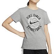 Nike Girls' Sportswear Basketball Droptail T-Shirt