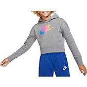 Nike Girls' Sportswear Futura Fade Cropped Hoodie