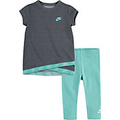 Nike Little Girls' Sportswear Crossover Futura T-Shirt and Leggings Set