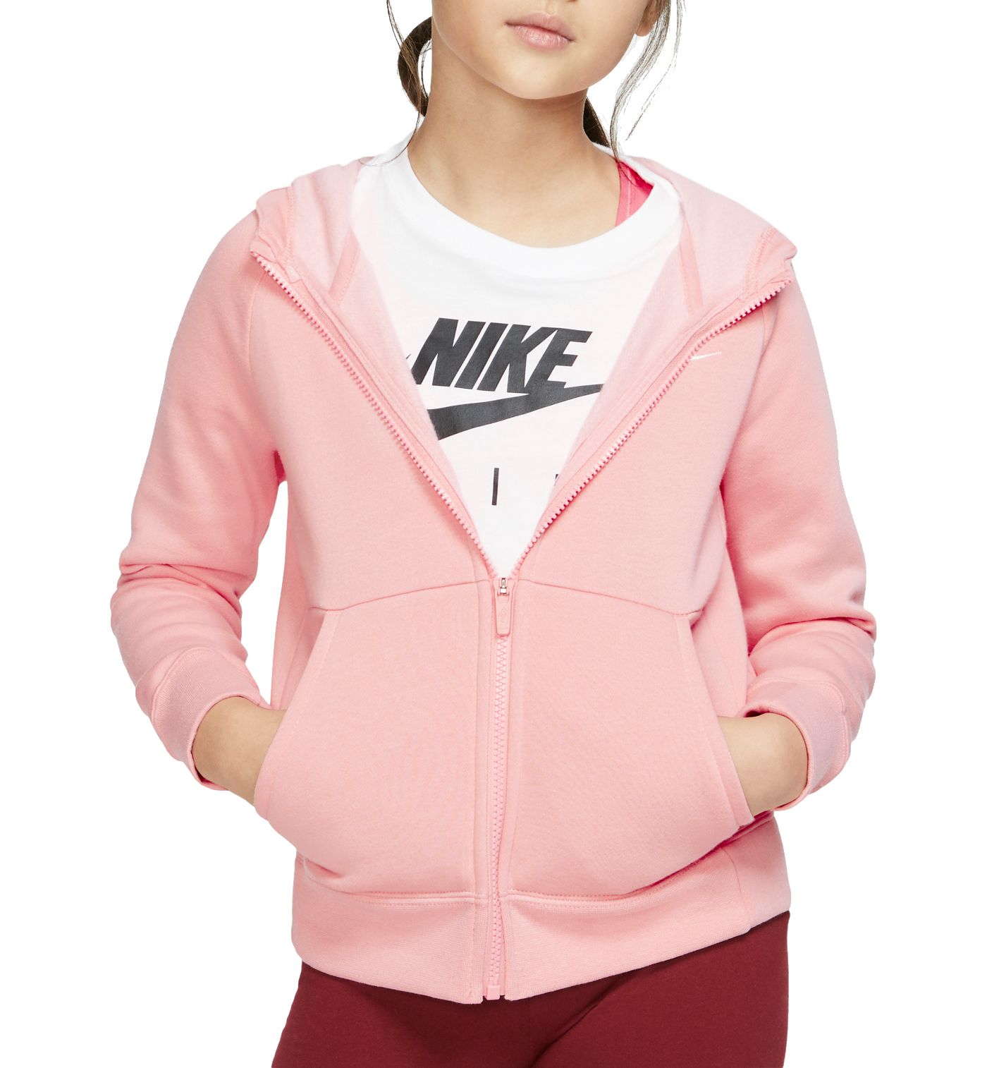 Nike Girls' Premium Essentials Full-Zip Hoodie