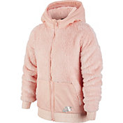 Nike Girl's Sportswear Sherpa Full-Zip Jacket
