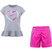 Nike Little Girls' Ruffle Top and Shorts Set