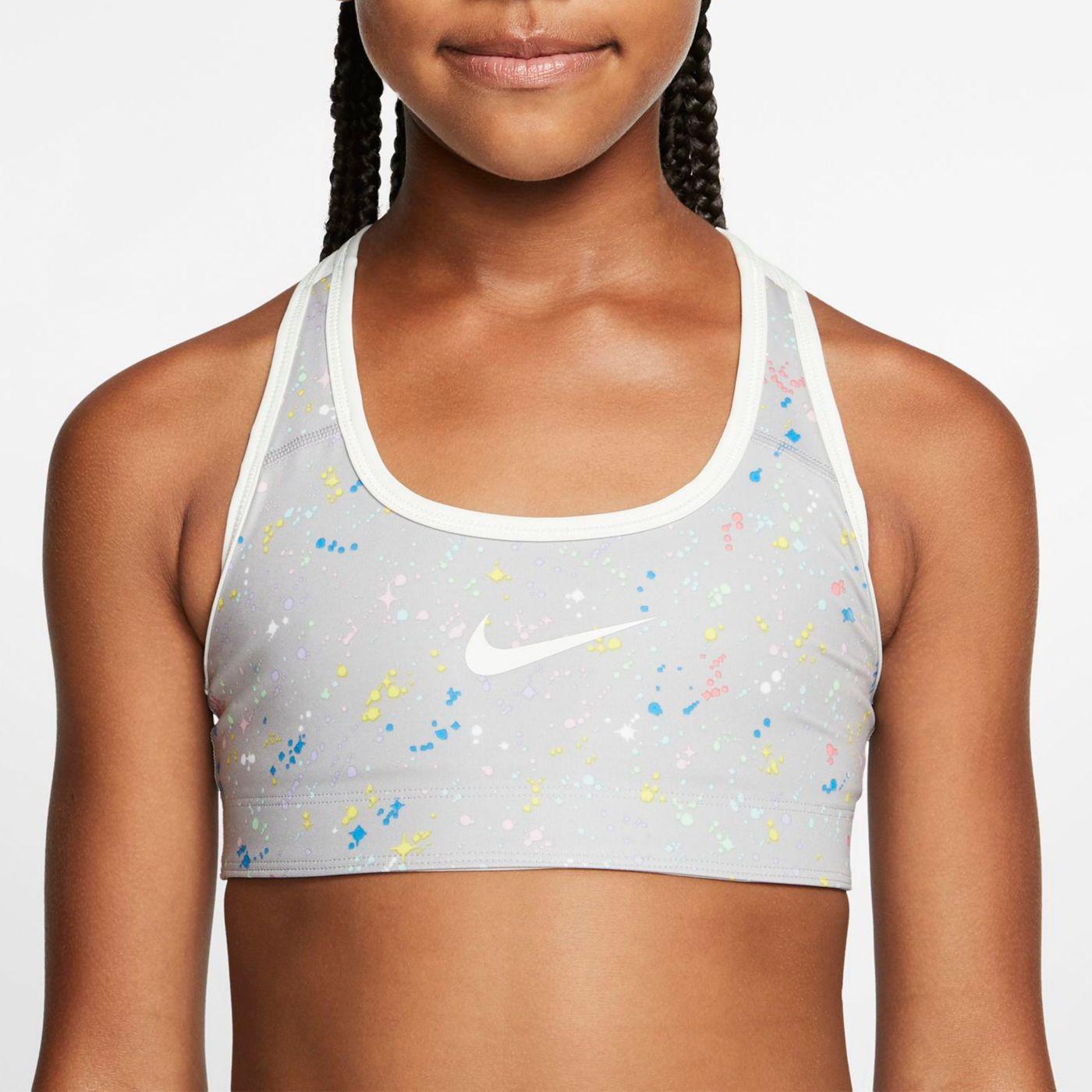Nike Girls' Reversible Starry Night Medium Support Sports Bra