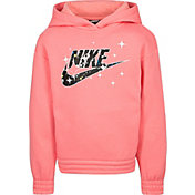 Nike Little Girls' Lightweight Fleece Graphic Hoodie