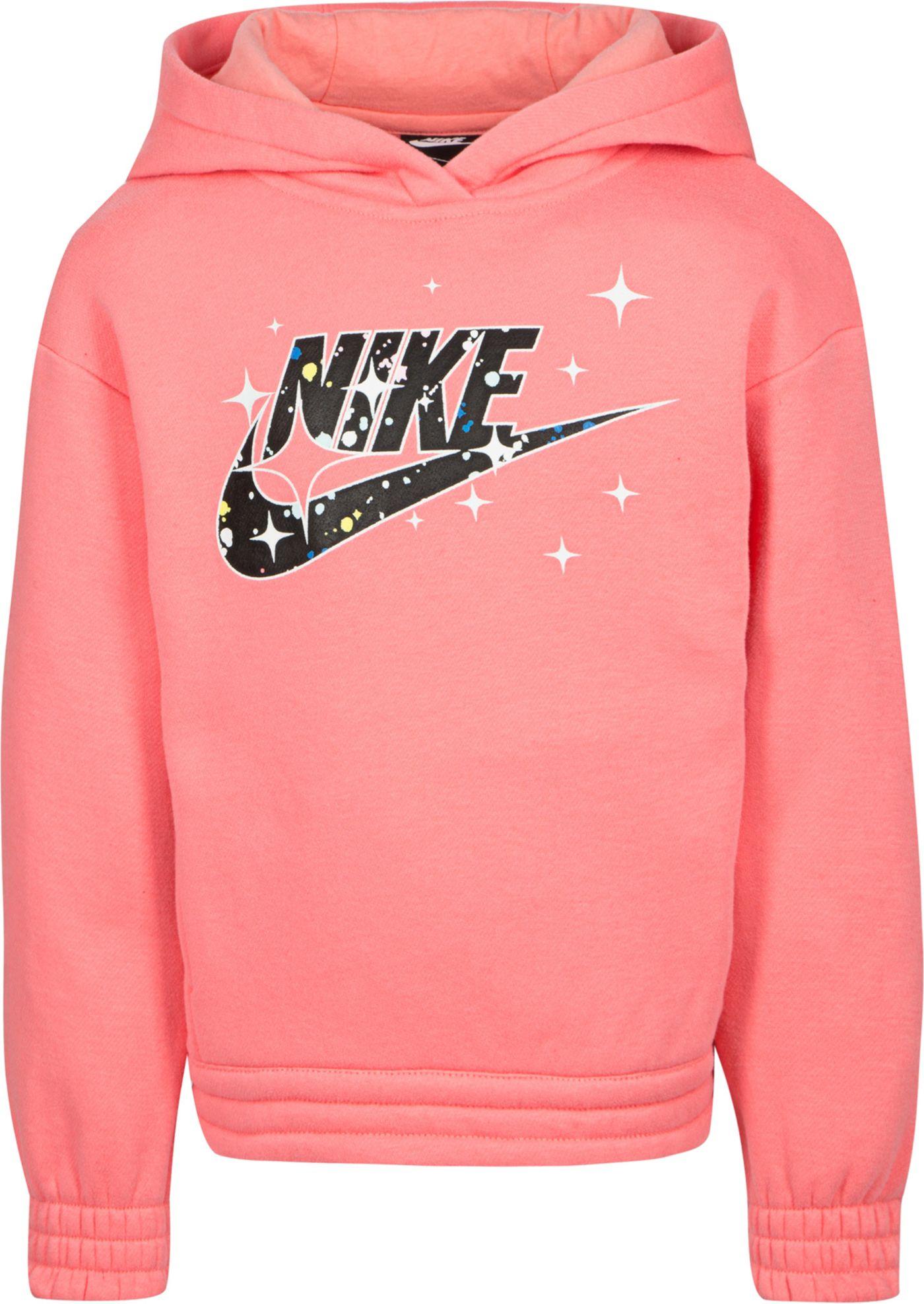 Nike Little Girls' Lightweight Fleece Graphic Hoodie
