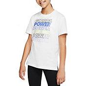 Nike Girls' Sportswear Girl Power Graphic T-Shirt