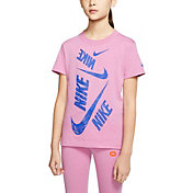 Nike Sportswear Girls' Swoosh Markmash Droptail Tee