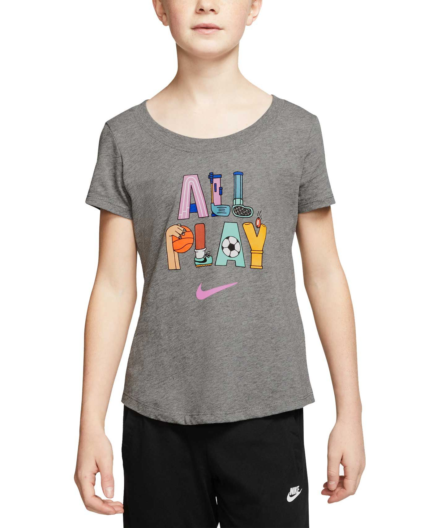 Nike Sportswear Girls' All Play Scoop Neckline Tee