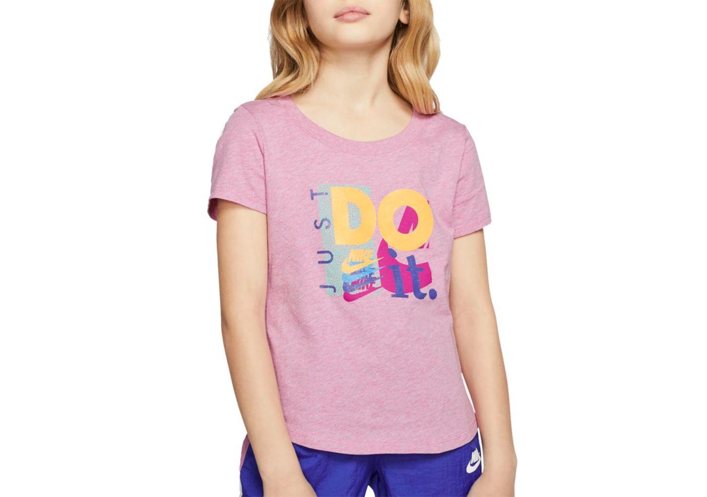 Nike Sportswear Girls' Just Do It Scoop Neckline Tee