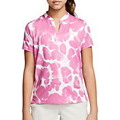 Nike Girls' Dry Printed Golf Polo