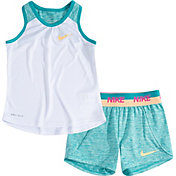 Nike Little Girls' Dri-FIT Racerback Tank Top and Shorts Set