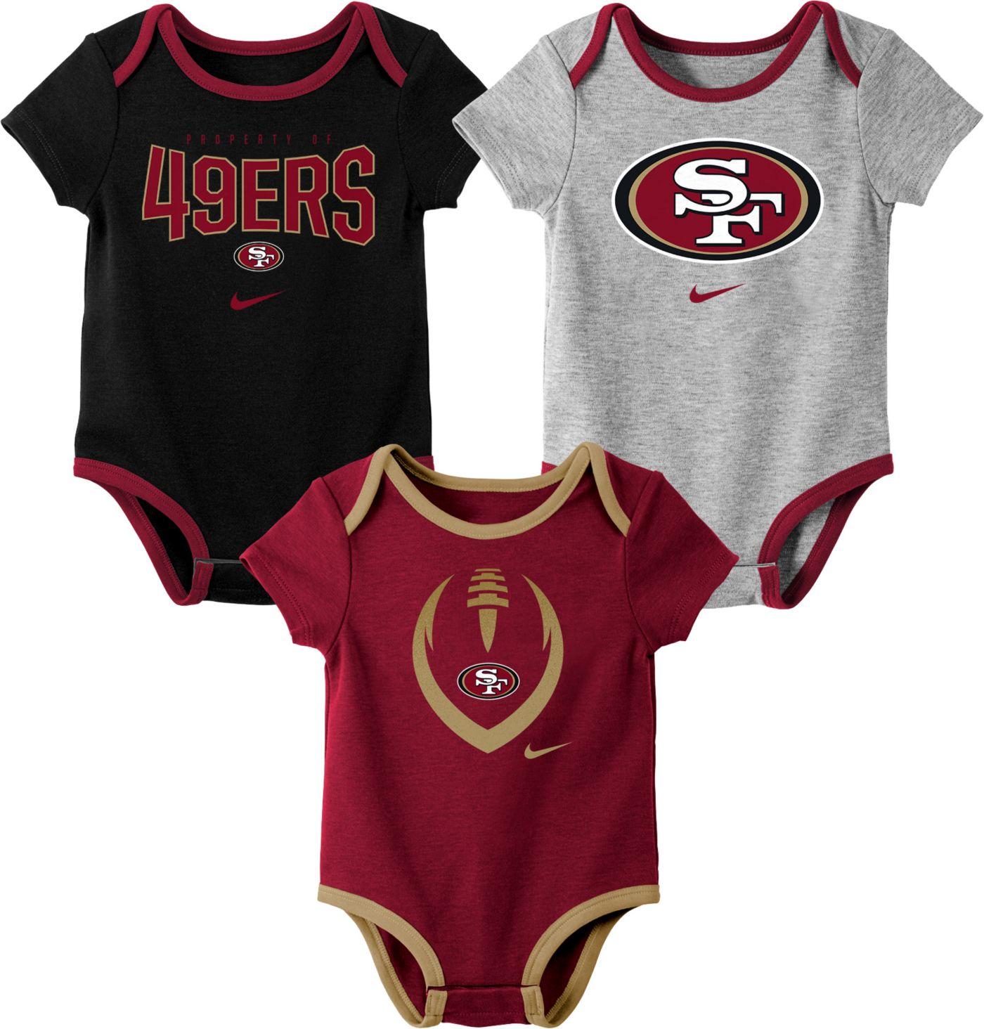 Nike Infant San Francisco 49ers Icon 3-Pack Bodysuit