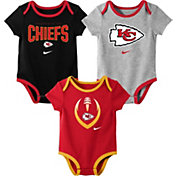 Nike Infant Kansas City Chiefs Icon 3-Pack Bodysuit