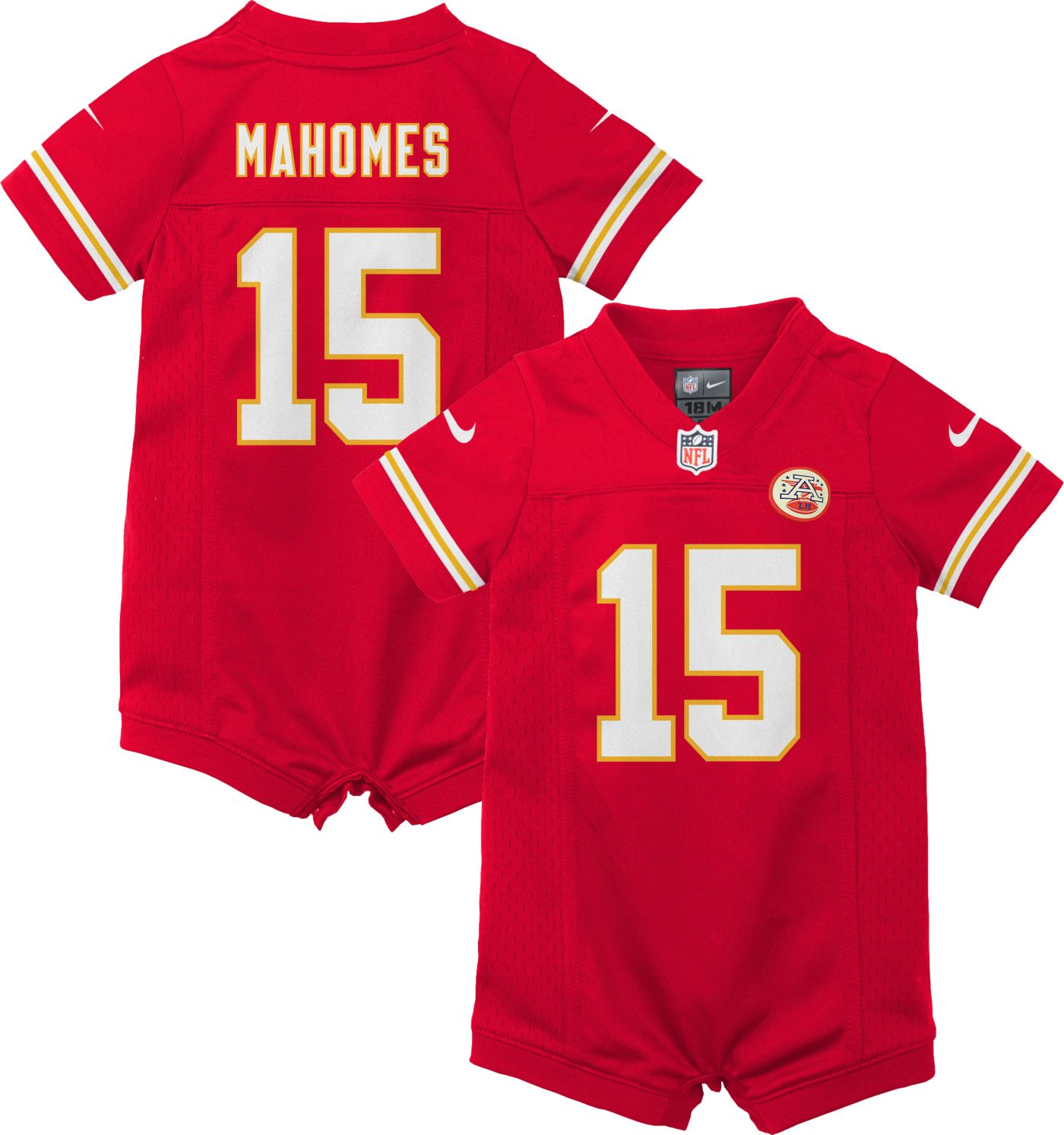 Nike Infant Kansas City Chiefs Patrick Mahomes #15 Romper Jersey