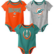 Nike Infant Miami Dolphins Icon 3-Pack Bodysuit