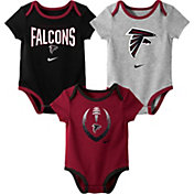 Nike Infant Atlanta Falcons Icon 3-Pack Bodysuit