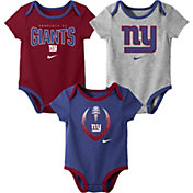 Nike Infant New York Giants Icon 3-Pack Bodysuit