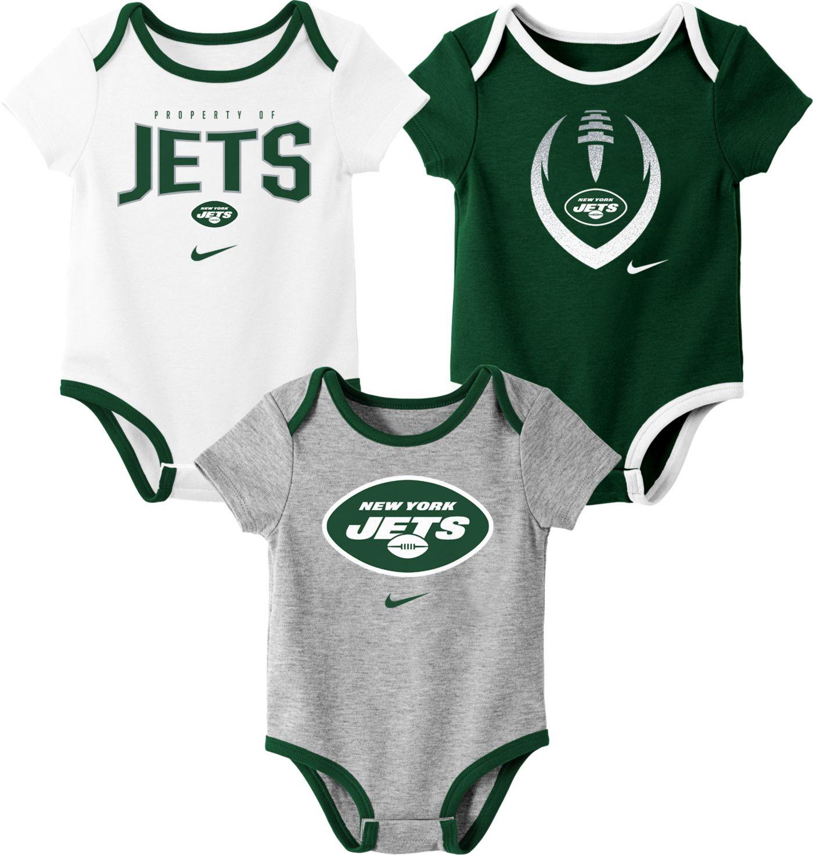 Nike Infant New York Jets Icon 3-Pack Bodysuit