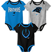 Nike Infant Carolina Panthers Icon 3-Pack Bodysuit