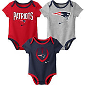 Nike Infant New England Patriots Icon 3-Pack Bodysuit