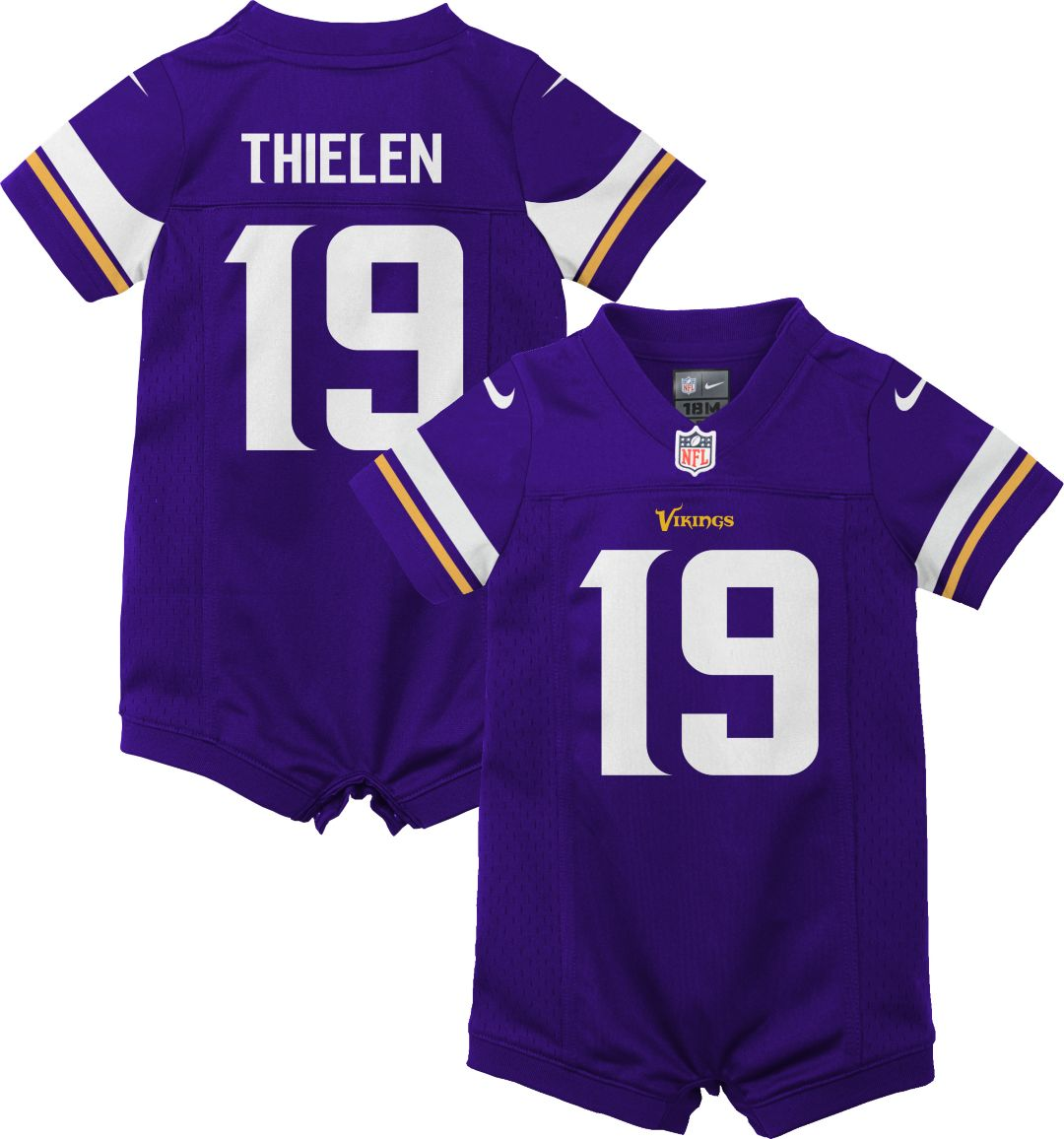 79824a05 Nike Infant Minnesota Vikings Adam Thielen #19 Romper Jersey