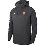 Nike Men's FC Barcelona Team Grey Pullover Hoodie